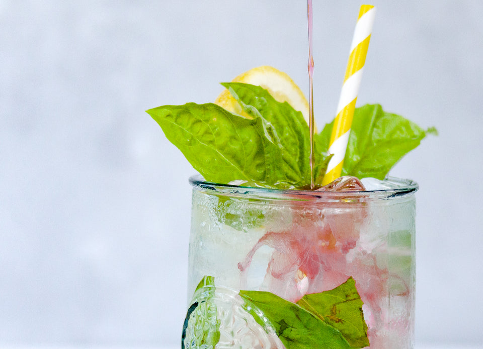 Cranberry Basil Lemonade