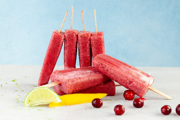 Cranberry Mango Lime Coconut Popsicle