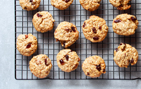 Guilt-Free Carrot Cake Cranberry Oatmeal Cookies with Decas Farms LeanCrans