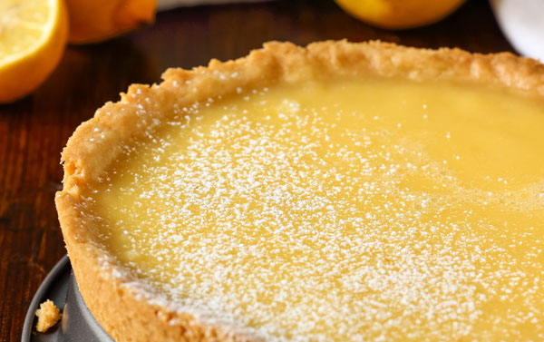 Limoncello Cranberry Curd Tart with Amaretti Cookie Crust (Naturally Gluten Free)