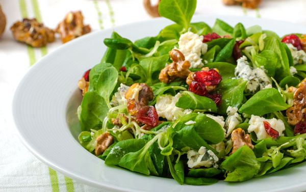 Spinach Goat Cheese Cranberry Salad