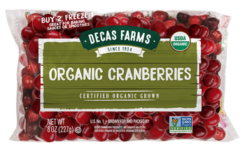 Fresh Organic Cranberries, 8 oz.