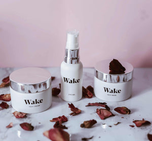 moisturiser to reduce fine lines, eye cream to red rid of dark circles and under eye bags, pink clay mask to make pores smaller