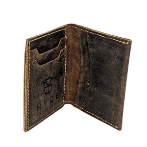HYDE SLIM WALLET (FULL GRAIN LEATHER- DARK BROWN)