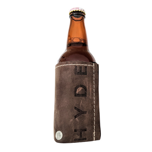 HYDE BOTTLE KOOZIE (FULL GRAIN LEATHER)