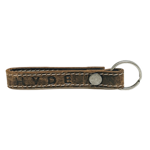 HYDE KEYCHAIN (FULL GRAIN LEATHER- DARK BROWN)