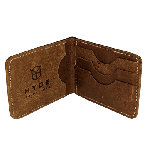 HYDE BIFOLD WALLET (FULL GRAIN LEATHER- COPPER BROWN)