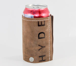 Leather Beverage Koozie Cover