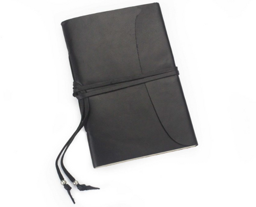 HYDE WRAP DIARY (BLACK GENUINE LEATHER)