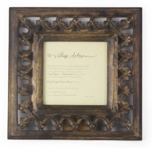 𝘿𝙮𝙣𝙖𝙨𝙩𝙮 Frame Carved Mangowood - Coffee