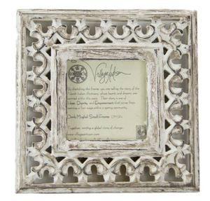 𝘿𝙮𝙣𝙖𝙨𝙩𝙮 Frame Carved Mangowood - Whitewash