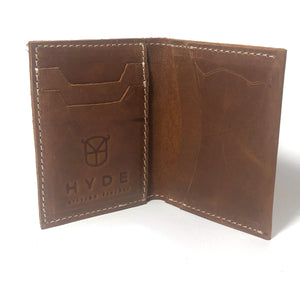 HYDE SLIM WALLET (FULL GRAIN LEATHER- COPPER BROWN)