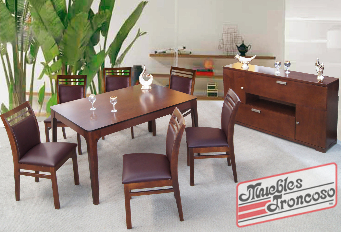 ANTECOMEDOR LONDON CON SILLA TULIP CHOCOLATE