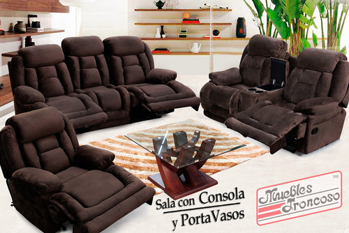 SALA EROICA CHAMPION CHOCOLATE 3-2 - Muebles Troncoso