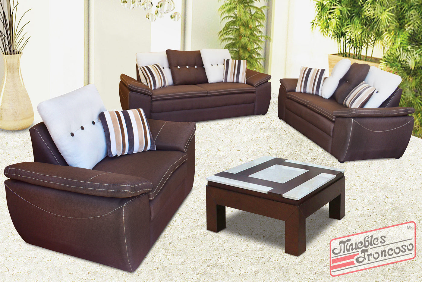 SALA RELAX TORONTO EXPRESSO 3-2 - Muebles Troncoso