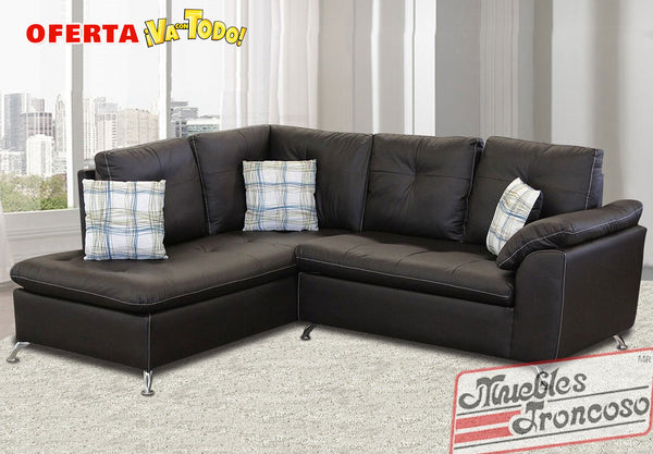 Sala tatiana modular chocolate muebles troncoso for Muebles troncoso salas