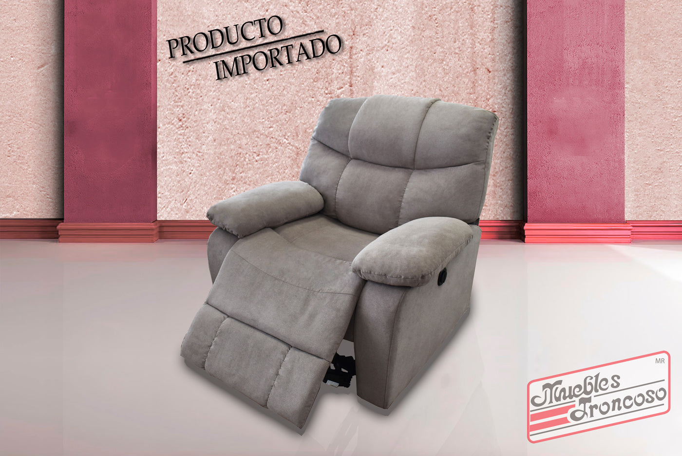 Sillon Reclinable.Sillon Reclinable Electrico U6026v Cosmo Taupe Muebles Troncoso