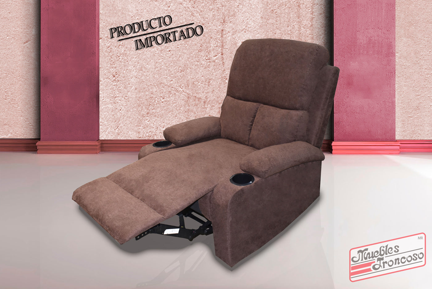SILLON RECLINER 59547 CHOCOLATE - Muebles Troncoso