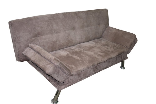 SOFA CAMA CHROME DARK BROWN - Muebles Troncoso