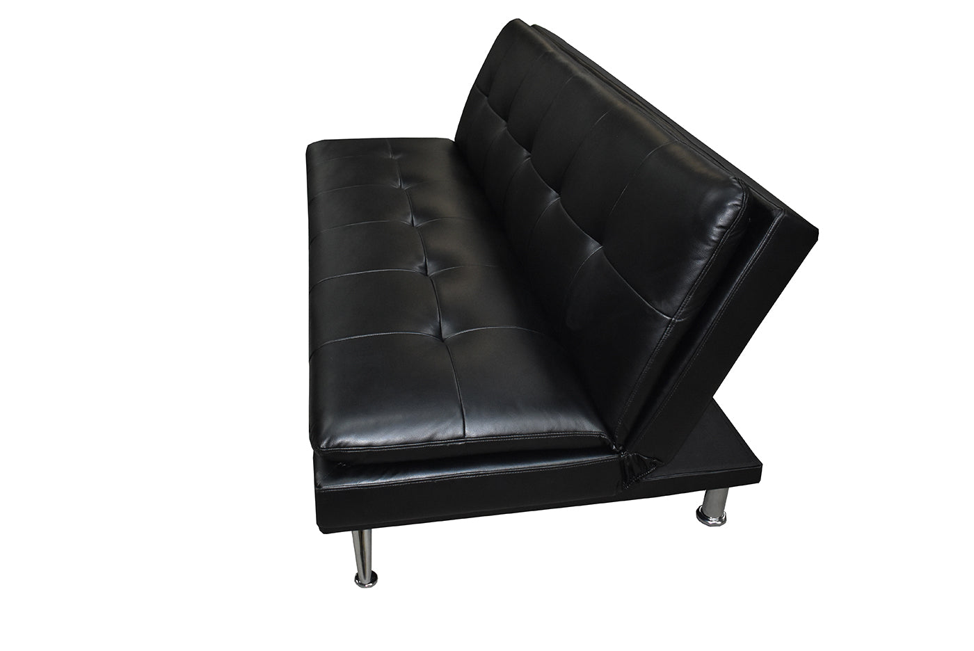 SOFA BED GSA-12027 GH CHROME LEGS, LEATHER AIR - Muebles Troncoso
