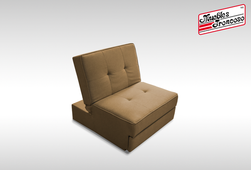 SOFA CAMA GSA-20745UH-NF WITH DRAWER BROWN