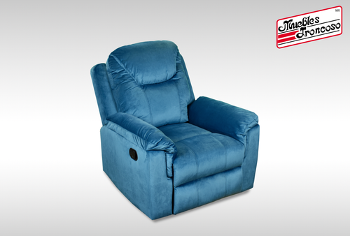 SILLON RECLINABLE AIDA VELVET AZUL