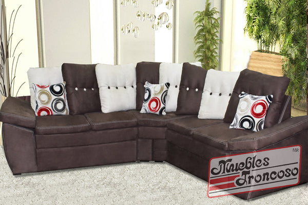 Sala terry modular chocolate muebles troncoso for Muebles troncoso salas