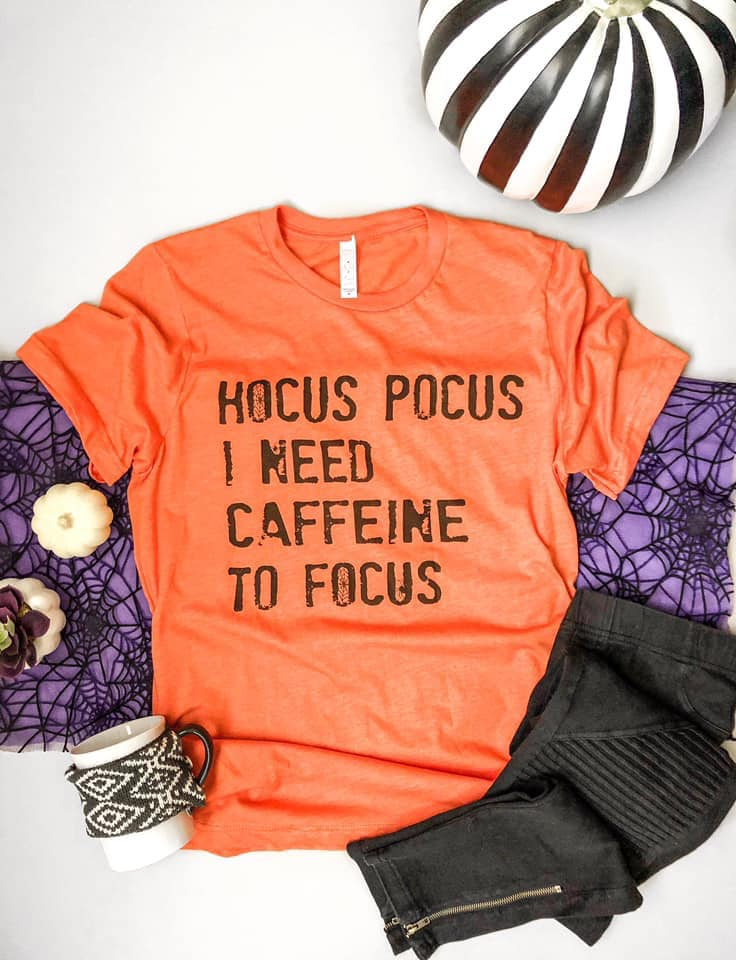 Hocus Pocus Caffeine Top, Orange