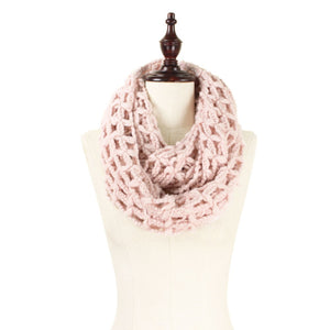 ZzzzInfinity Large Knit Scarf, Soft Pink