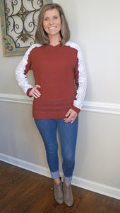Laced for Beauty Burgundy Sweater
