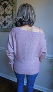 Here For The Weekend Sweater, Mauve