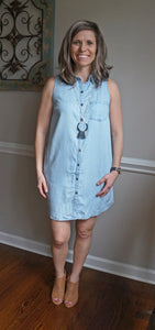 We Go Together Dress, Light Chambray