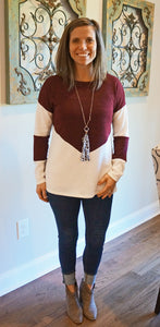Hello Darling Sweater, Burgundy