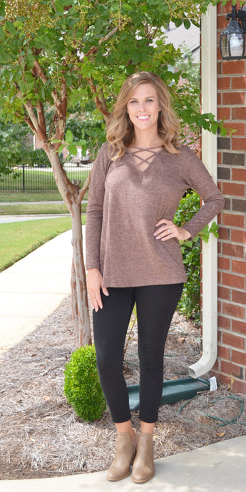 Simple Is Best Sweater, Mocha