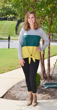 Go With The Flow Colorblock Sweater, Green/Yellow
