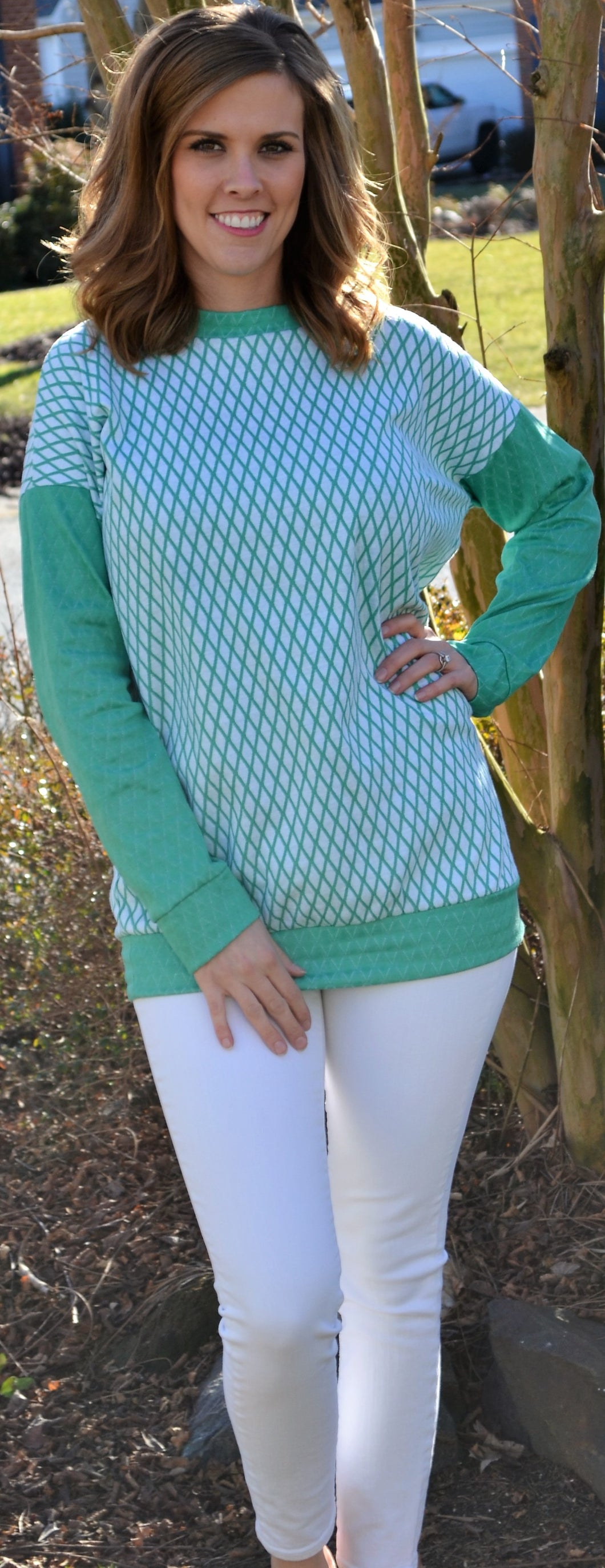 Fresh Air Green Sweater