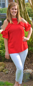 Spring Fling Red Tomato Blouse