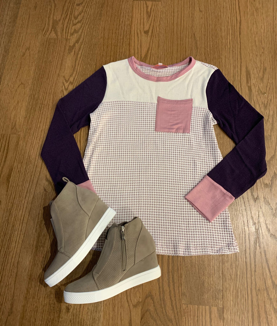 Cute in Color Block-Mauve