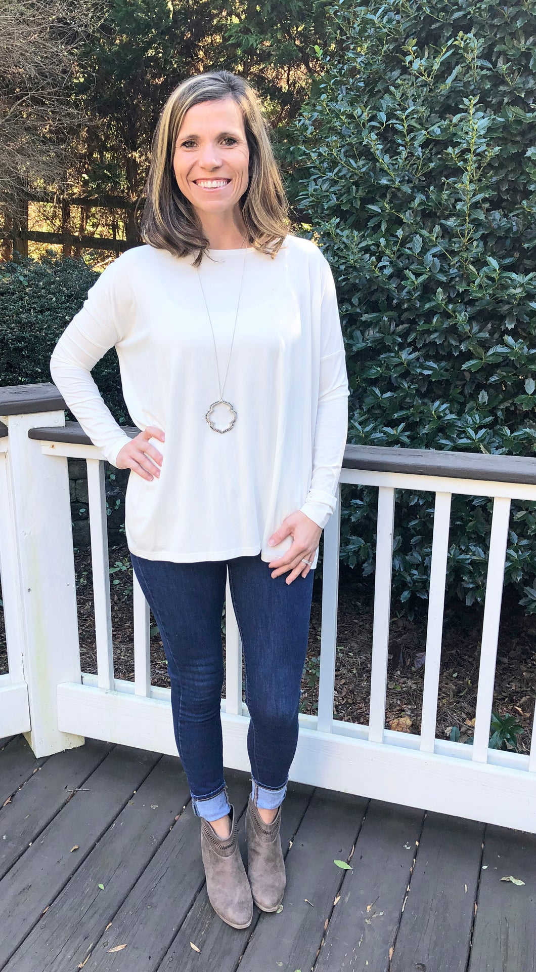 Simply Perfect PIKO Long Sleeve, Cream