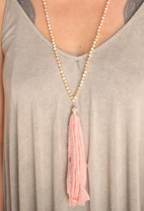 Rose Tassel Necklace