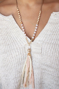 Pink Suede Necklace