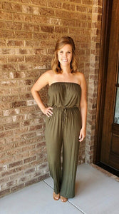 Looking Lovely Olive Romper