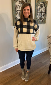 Cozy In Comfort Pullover, Black/Cream