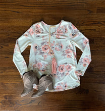 All About You Floral Top, Oatmeal