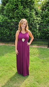 Simply Beautiful Maxi, Plum