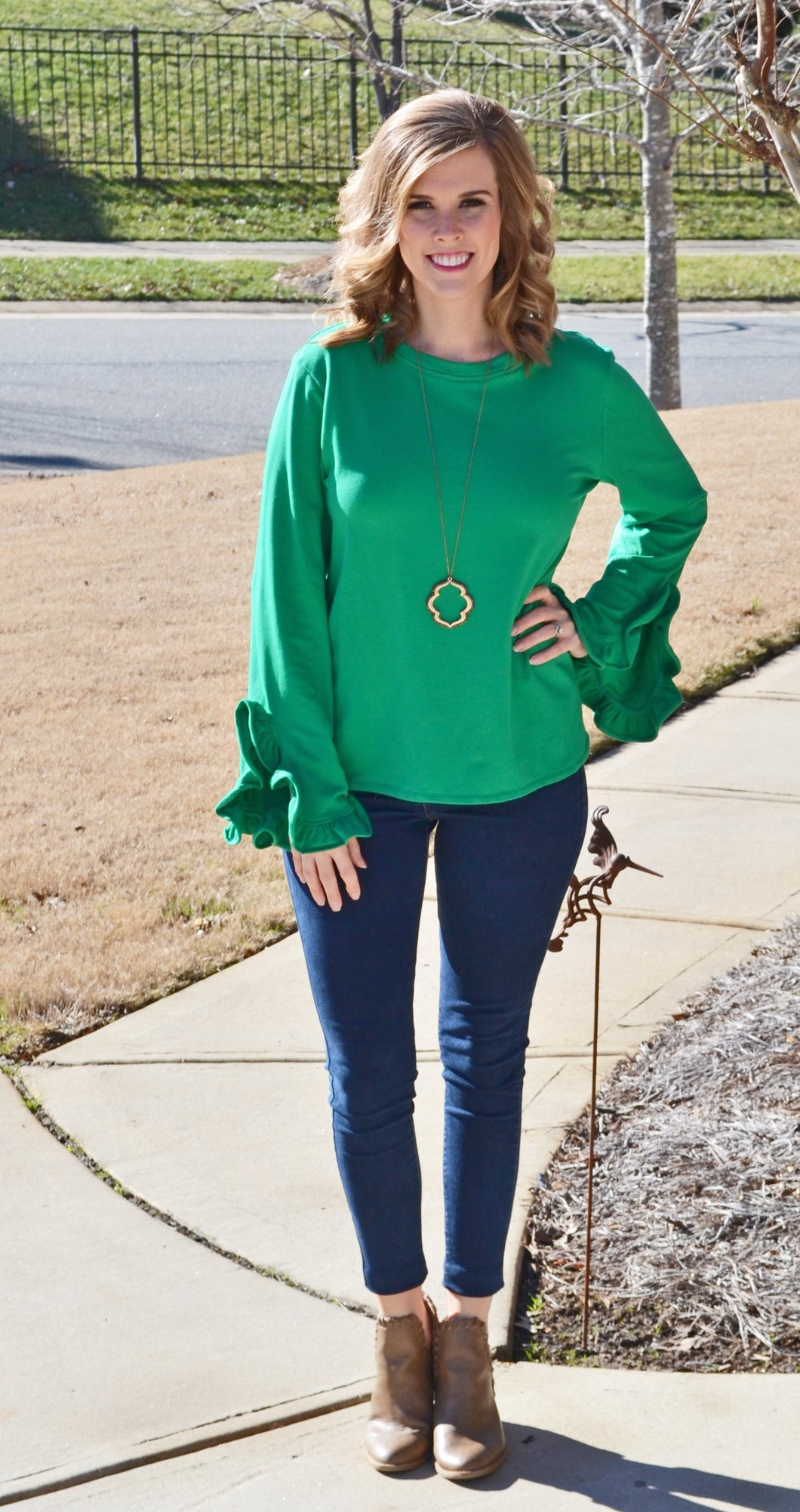 Living the Best Life Sweater, Kelly Green