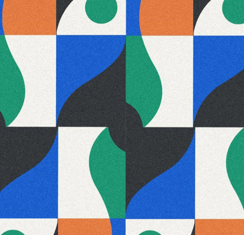 sickfaces pattern green and blue