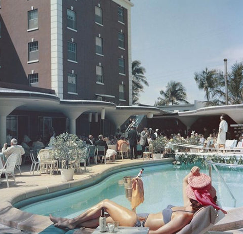 70s pool party photo by slim aarons