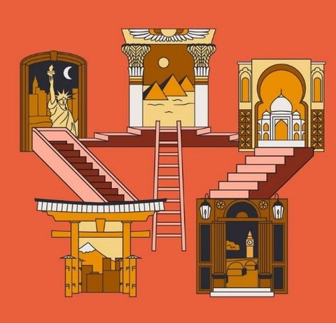 staircase to different places art