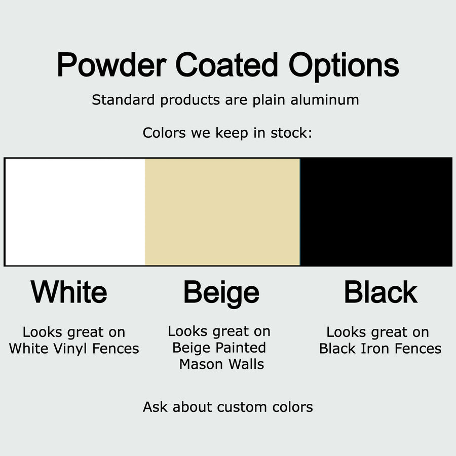 Coyote Rollers Direct powder coat options to match your fence
